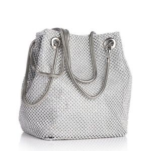 Handbags - Women's Rhinestone Bucket Bag.